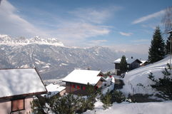 Sargans die Schweiz Stockbilder