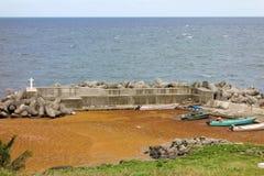 Sargassum ad una piccola industria della pesca in st vincent Fotografia Stock Libera da Diritti