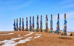 Sarge 13 ритуальные штендеры в культуре Buryat стоковые изображения