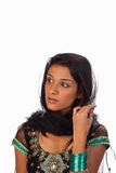 Sari. Middle eastern woman wearing a traditional sari stock photography