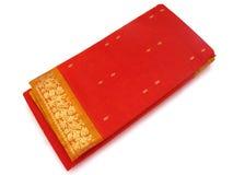 Sari de seda india tradicional Imagen de archivo libre de regalías