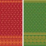 Sari Design. Indian textile art inspired sari design, very detailed and easily editable Royalty Free Stock Photos