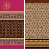 Sari Design. Indian textile art inspired sari design, very detailed and easily editable Stock Photos