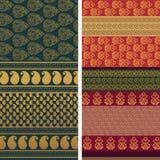 Sari Design. Indian textile art inspired sari design, very detailed and easily editable Stock Images