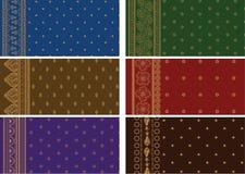 Sari Designs. Indian Textile- Sari Design Royalty Free Stock Photography