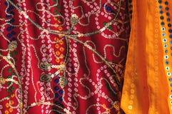 Sari-Details Lizenzfreie Stockfotos