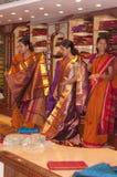 Sari-Einkaufen Stockbilder