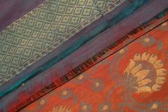Sari nupcial de seda 3 de Benares fotos de archivo libres de regalías
