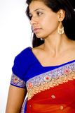 Sari Portrait (against white) Stock Images