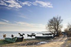 Sarichio's fishing boats Stock Photos
