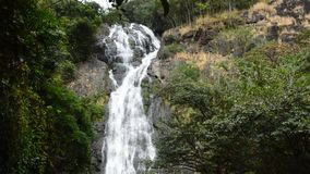 Sarika high waterfall landscape in Thailand stock video footage