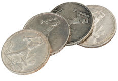 Sarinnye russian coins Stock Photo