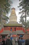 Sarira塔院寺Stupa在五台山脉,山西,中国 免版税库存图片