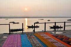 Saris in Varanasi, India. Royalty Free Stock Images