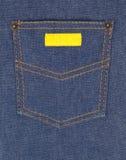 Sarja de Nimes com bolso Fotografia de Stock Royalty Free