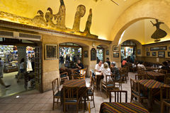 Sark Cafe in Grand Bazaar, Istanbul, Turkey stock images