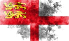 Sark grunge flag, United Kingdom dependent territory flag.  Royalty Free Stock Photography