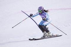 Sarka Zahrobska - esquiador alpino checo Foto de Stock Royalty Free