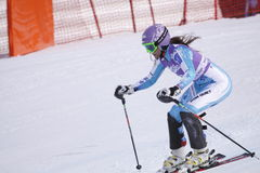 Sarka Zahrobska - het alpiene ski?en Stock Fotografie