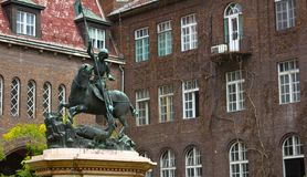 Sarkanyolo Szent Gyorgy Statue Royalty Free Stock Photo