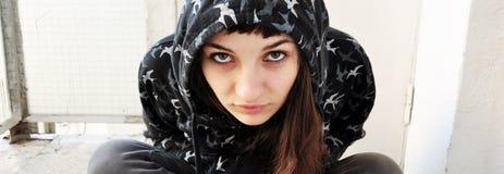 Sarkastisches Jugendlichgesicht Stockfotografie