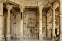 Jama Masijd mosque in complex Sarkhej Roza in India. Sarkhej Roza is a located in the village of Makaraba, near  Ahmedabad in Gujarat state, India. The picture Royalty Free Stock Image