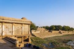 Sarkhej Roza meczet w Ahmedabad, India Zdjęcie Stock