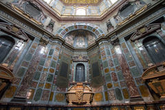 Sarkofag av Cosimo II i det Medici kapellet, Florence, Italien Arkivfoto
