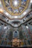 Sarkofag av Cosimo II i det Medici kapellet, Florence, Italien Arkivbilder
