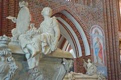 Sarkofag av detaljen för kristen V royaltyfria bilder