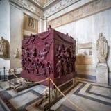 Sarkofag Helena, Watykański muzeum, Rzym Zdjęcie Stock