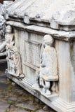 Sarkofag i Konya det arkeologiska museet Royaltyfri Foto