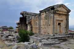 Sarkophag - alte griechisch-romanische und byzantinische Stadt von Hierapolis Stockbilder