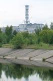 Sarkophag der vierten Einheit der Kernkraft pl Tschornobyls Stockfotografie