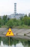 Sarkophag der vierten Einheit des Tschornobyls Stockfotos