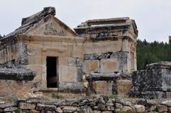 Sarkophage - alte griechisch-romanische und byzantinische Stadt von Hierapolis Lizenzfreie Stockfotos