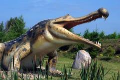 Sarkosuchus. Model van dinosaurus. stock afbeelding