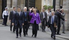 Sarkozy e Merkel fotografie stock