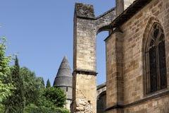 Sarlat Cathedrale Sarlat-la-Canéda royaltyfria foton