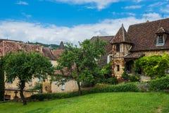 Sarlat dordogneperigord Frankrike Fotografering för Bildbyråer