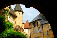 Sarlat medioevale, Francia Immagine Stock Libera da Diritti