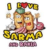 Sarma και rakia Στοκ φωτογραφία με δικαίωμα ελεύθερης χρήσης