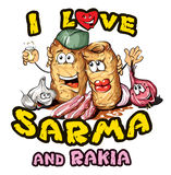 Sarma and rakia Royalty Free Stock Photography