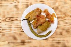 Sarmale - alimento romeno Repolho enchido imagens de stock royalty free