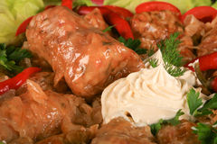 Sarmale, Roemeense keuken, vulde cabage Stock Fotografie