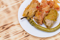Sarmale - romanian food. Stuffed cabbage Royalty Free Stock Photography