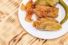 Sarmale - romanian food. Stuffed cabbage Stock Photos