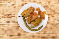 Sarmale - romanian food. Stuffed cabbage Royalty Free Stock Images