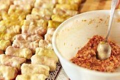 Sarmale, un piatto tradizionale rumeno Fotografie Stock Libere da Diritti