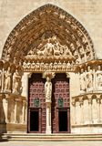 The Sarmental Door of Burgos Cathedral Stock Photos